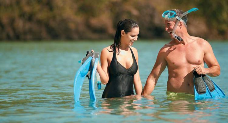 Go snorkeling with your loved one in the clear waters of French Polynesia and Tahiti on Paul Gauguin.