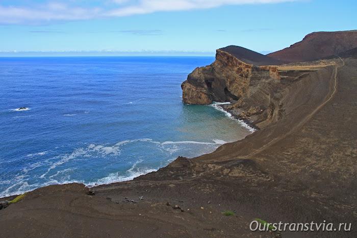 Земля, приросшая к острову Фаял в результате извержения вулкана