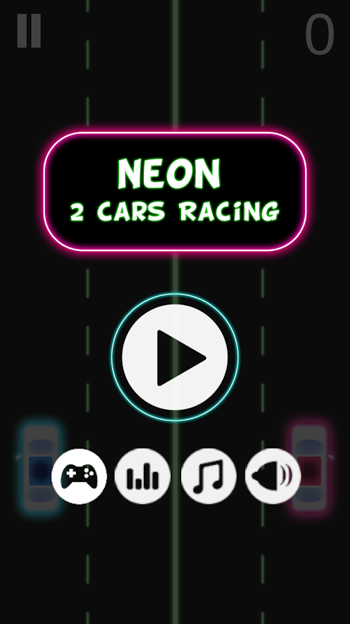 Neon 2 Cars Racing- screenshot
