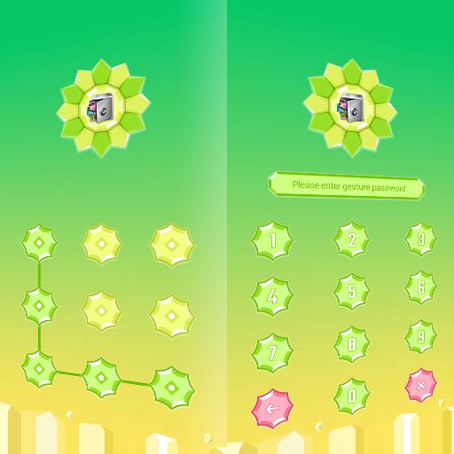 AppLock Theme PolyFlowers