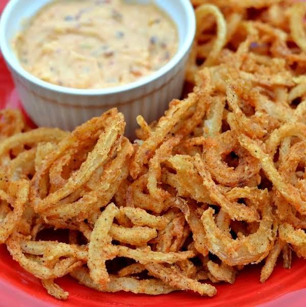 Onion Straws With Chipotle Pepper Aioli Recipe