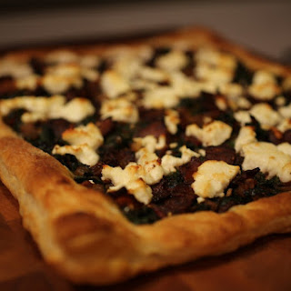 Chard, Onion and Goat Cheese Tart