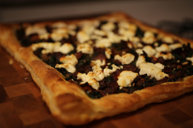 Chard, Onion and Goat Cheese Tart Recipe | Yummly