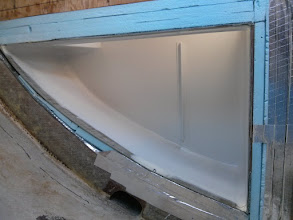 Photo: three coats of primer on the interior of the ice box.Very pleased with the Alexseal primer.