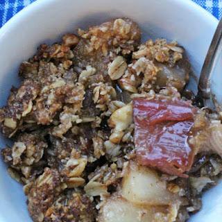 Gluten-Free Rhubarb, Apple and Pear Crisp