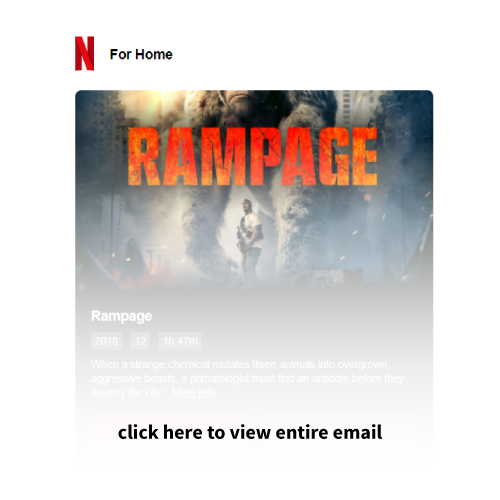 Drip email marketing example Netflix