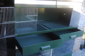 Photo: Frontal view of one nursery compartment ; right side is for the 1st week and left side is to expand the size at the beginning of the 2nd week.