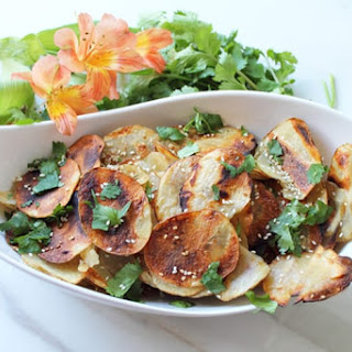 Grilled Asian Potato Chips.