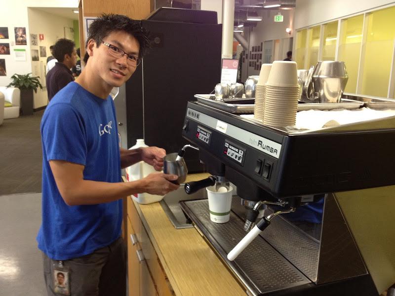 Photo: Vincent Mo is latte man