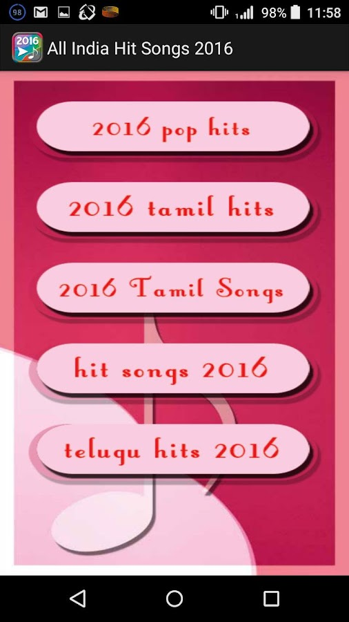 All India Hit Songs 2016- screenshot