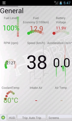 HobDrive OBD2 ELM327, car diagnostics, trip comp  screenshots 7