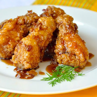 Fried Honey-Flavored Chicken Wings