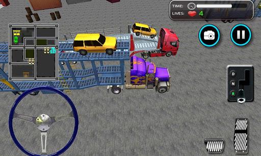 車の輸送トレーラートラックの3D