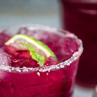 Blueberry Basil Margarita.