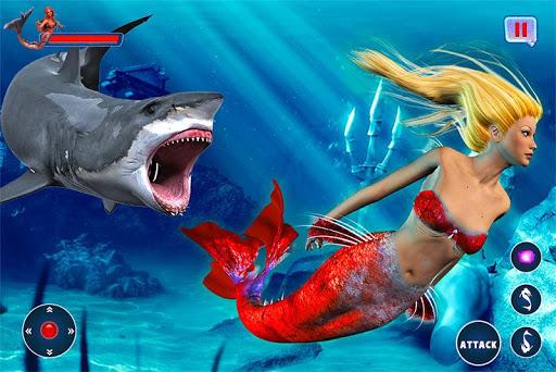 Mermaid Simulator: Underwater & Beach Adventure android2mod screenshots 2