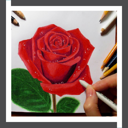 Goede Learn to Draw Roses Flower Step by Step Offline - Apps op Google Play AM-27
