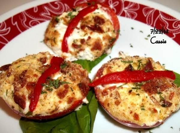 Three Cheese Stuffed Tomatoes - Cassies Recipe