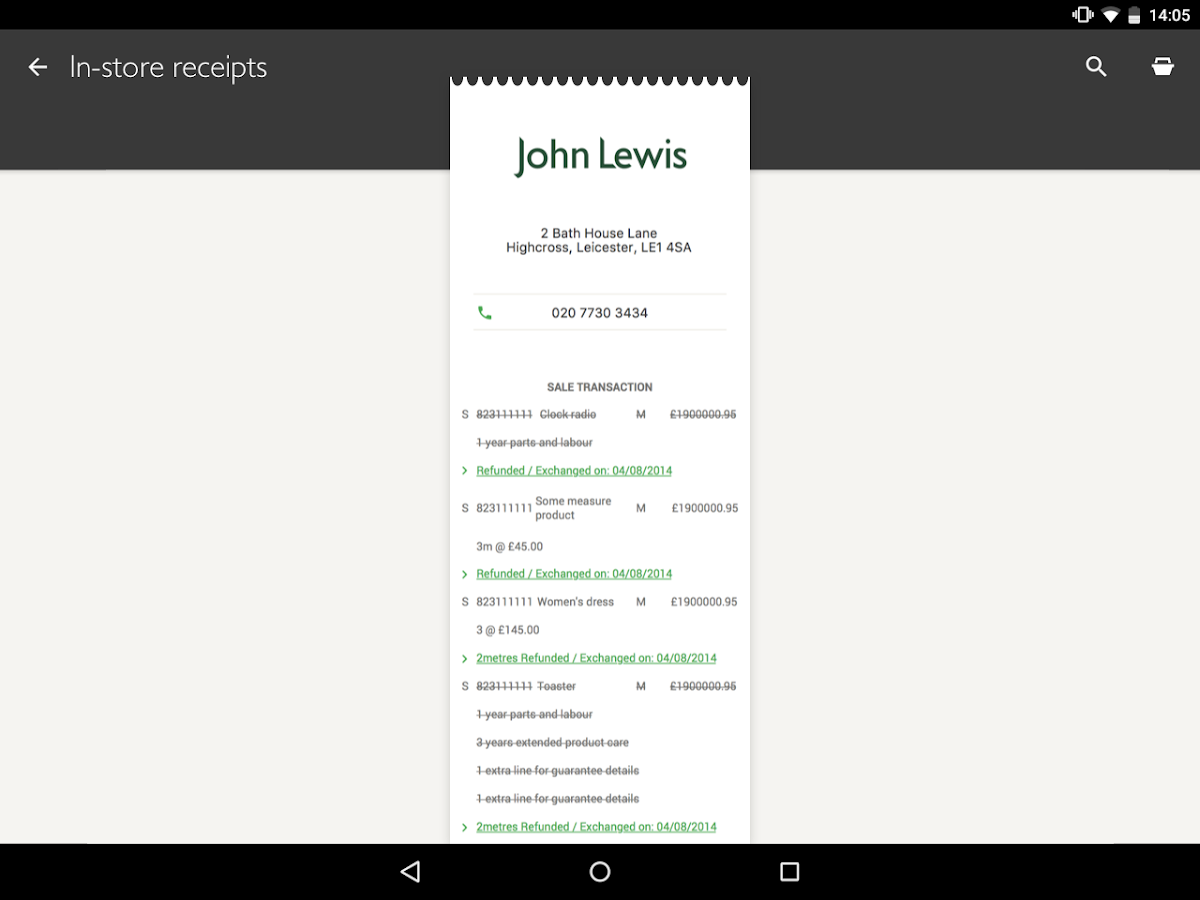 John Lewis- screenshot