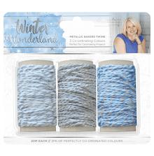 Sara Signature Collection Winter Wonderland 3pk - Metallic Bakers Twine