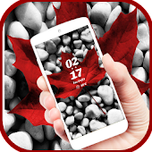 Maple leaf pebble lock theme