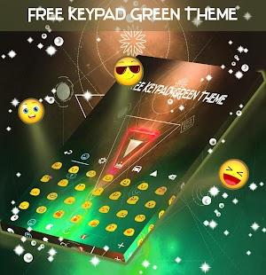 Zdarma klávesnice Green téma - náhled
