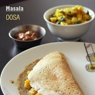 Masala Dosa with potato curry (South Indian breakfast recipe)