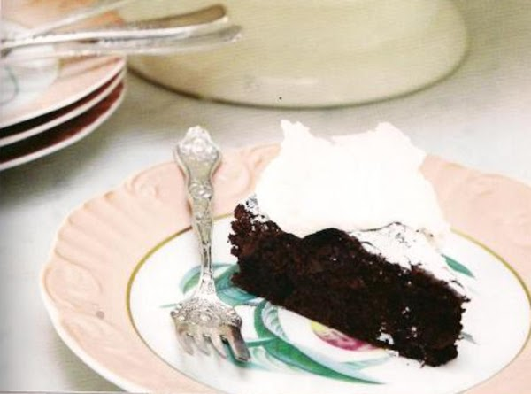 Nancy's Brownie Cake With Fresh Whipped Cream Recipe