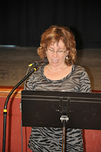 """Photo: Leslie Brown reads her poetry. She's reading first for the """"Everywhere"""" section, but out of order because of having to leave early."""