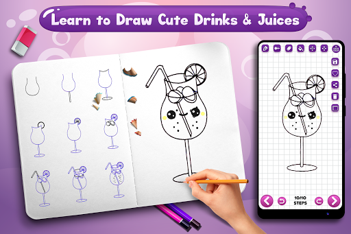 Foto do Learn to Draw Cute Drinks & Juices