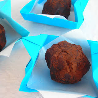 Chestnut Truffles with Crunchy Hazelnut Center - pressure cooker.