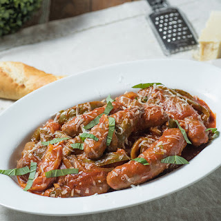 Slow Cooker Sausage and Peppers.