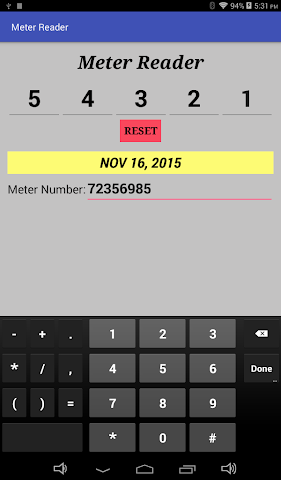 android Meter Reader Assistant Screenshot 1