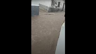 Calles anegadas en Fiñana.