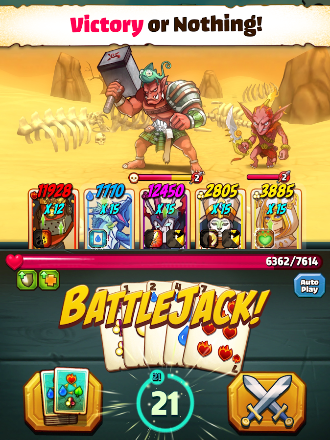 Battlejack- screenshot
