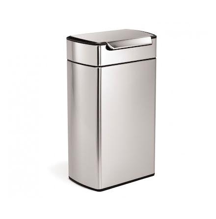 Soptunna med Touchbar Rektangulär Simplehuman CW2014  40 liter