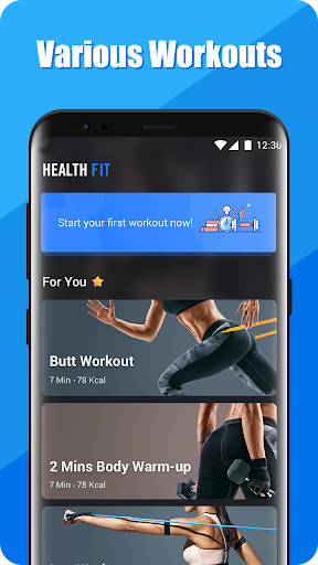 HealthFit - Abs Workout with No Equipment Needed 1.0.1 app download 1