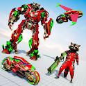 Raccoon Robot Transforming Games: Robot Bike Games icon