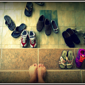 Which shoes I should wear? by Adam Ling - Artistic Objects Other Objects ( slipper, choice, foot, shoe, sport shoe, step )