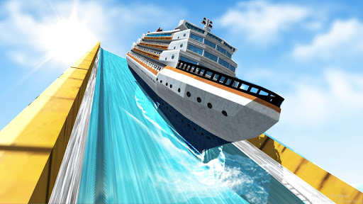 Ship Mega Ramp Racing - screenshot