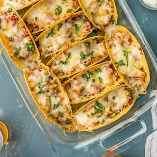 Easy Oven Baked Spicy Chicken Tacos.