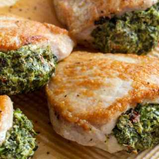 Pork Chops Stuffed with Sun-Dried Tomatoes and Spinach Recipe