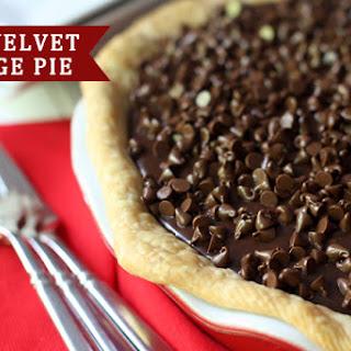 Red Velvet Fudge Pie.