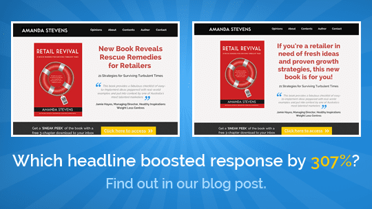 A/B Split Test: This Headline Boosted Response by 307%