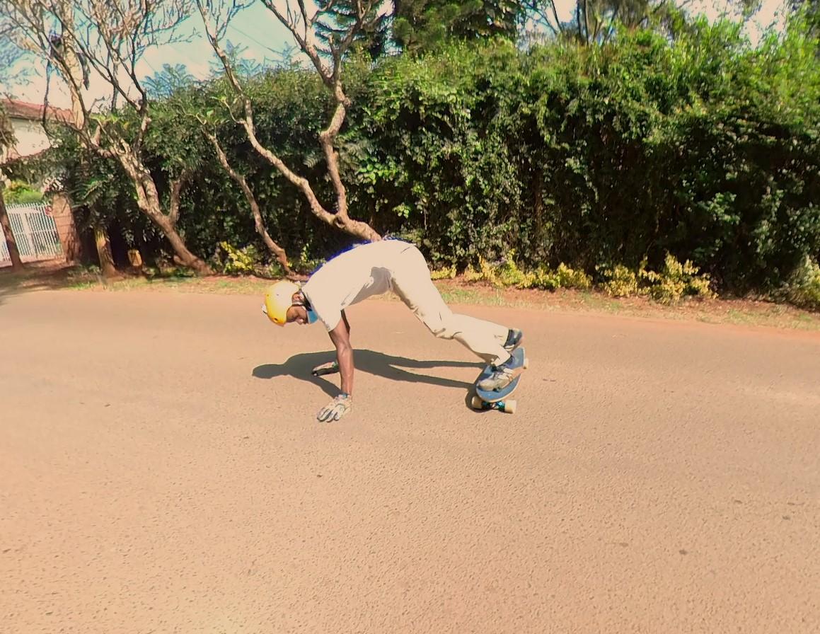 longboarding push-up slide