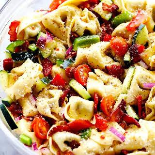 Zesty Tortellini Bacon Vegetable Salad.