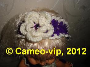 Photo: №F7. 40грн.Повязка с цветком Baby Face Galoob.