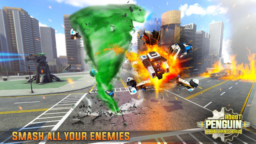 Penguin Robot Car Game: Robot Transforming Games screenshots 3