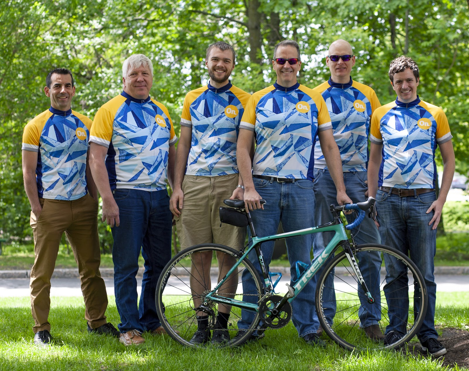 Group photo of Team Onshape, which is cycling in the Pan-Mass Challenge ride this August to raise funds for cancer research.