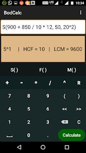 BodCalc - A BODMAS Calculator - náhled