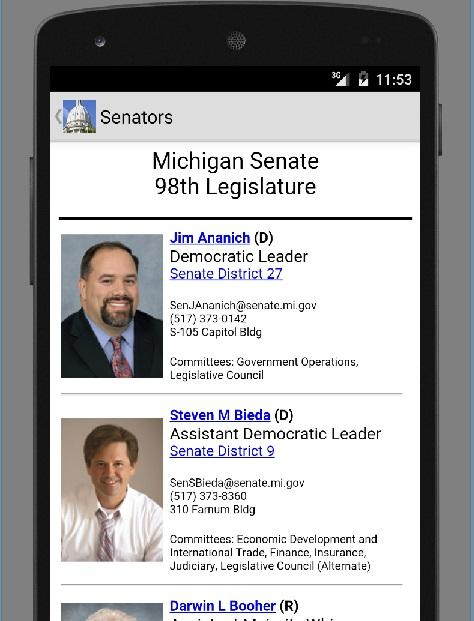 Citizens Guide MI Legislature- screenshot
